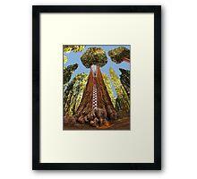 ☁ ☂ SHERMAN TREE WHY AM I ZIPPED YOU WONDER WHY?☁ ☂ PLEASE READ MY WRITTEN HEARFELT POEM TY IN DESCRIPTION☁ ☂ Framed Print