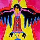 Crow Medicine original painting by CrowRisingMedia