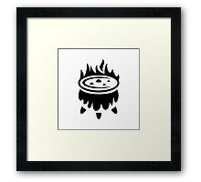 Witch Cauldron Ideology Framed Print