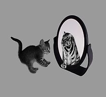 ♥•.¸¸MIRROR OF TRUTH WHAT DO I SEE?..I SEE THE REAL TIGER IN ME ~IPAD CASE♥•.¸¸ LOL by ✿✿ Bonita ✿✿ ђєℓℓσ