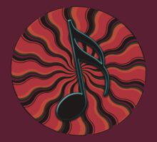 Red Hot Semiquaver -  16th Note Music Symbol by TribalSol