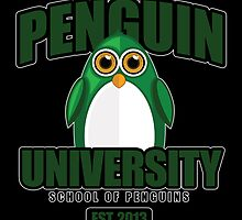 Penguin University - Green 2 by Adamzworld
