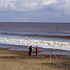 Fishermen at Hornsea by Tom Curtis