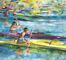 Canoe Race in Polynesia by Goodaboom