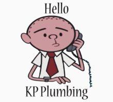 KP Plumbing - Text T-Shirt