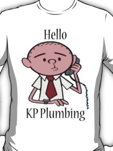 KP Plumbing - Text T-Shirt