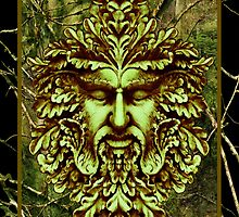 Green Man - Watcher of the Trees by nelsonpawlak