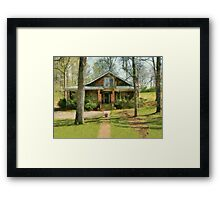 House That Disappeared Framed Print