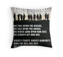 Band of Brothers - Airborne Infantry Throw Pillow