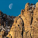 Moon-set Over Red Rock by Gregory J Summers