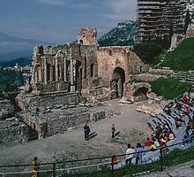 Greek theatre Taormina 198403290022 by Fred Mitchell