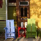 Table and Chairs in Breckenridge, Colorado by Kent Nickell