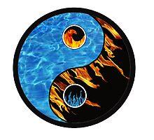 Fire and Water Yin Yang symbol by EucalyptusBear