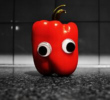 Googly-Eyed Capsicum by JustAnEffigy