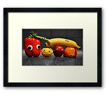 Googly-Eyed Family Framed Print