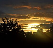 Sunset In  Wiltshire   UK Aug 24th by lynn carter
