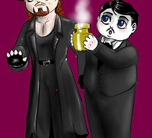 Chibi WWE - Undertaker and Paul Bearer 1 by Furiarossa