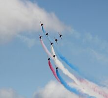 Red Arrows Concorde Formation by Theresa Selley