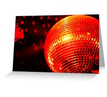 Red Disco Ball 2 Greeting Card