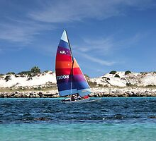 Sailing Along The Island by RickDavis