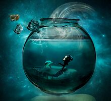 Two lost souls swimming in a fishbowl by Erik Brede