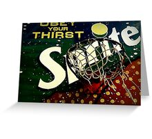 Shootin' Hoops With Bubbles: Sprite Greeting Card