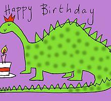 Happy Birthday Dinosaur by AndyLanhamArt