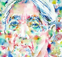 JIDDU KRISHNAMURTI watercolor portrait.3 by lautir