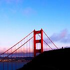 Golden Gate Bridge sunset iPhone case by aschwall33