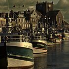 The harbor at Barfleur by cclaude