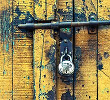 Vintage Lock & Door by visualspectrum