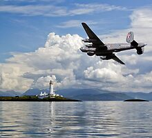 Shackleton over Lismore lighthouse by Gary Eason + Flight Artworks
