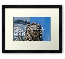 Lion Guardian Framed Print
