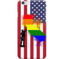 California Wall tagger Rainbow black iPhone Case/Skin