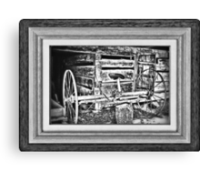 """""""Back to the Dump Rake, Boys"""" ... with a matted and framed look Canvas Print"""