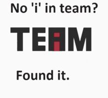 Found the 'I' in team image. by caldayjd