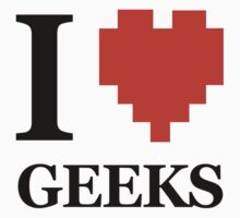 I Love HEART GEEKS funny nerd gamer college by jekonu