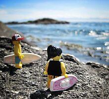 Surf's Up! (1 of 3) by bricksailboat
