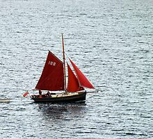 Red Sails in Falmouth Harbour by Ludwig Wagner