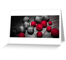 Red balls of thread Greeting Card