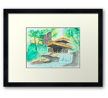 Fallingwater - Water colour  Framed Print