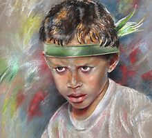 Very Young Maori Warrior from Tahiti by Goodaboom