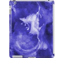 Christmas background with runing reindeer iPad Case/Skin