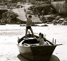 children on ship by Lavanda