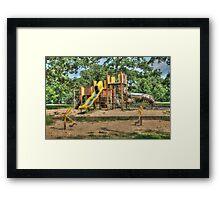 Chutes, Ladders and Slides Framed Print