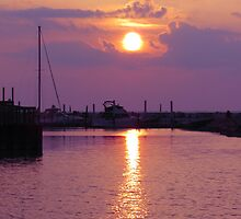 Sandusky Bay Sunset  2 by MSRowe Art and Design
