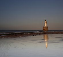 Rattray Head Lighthouse at Sunset by Maria Gaellman