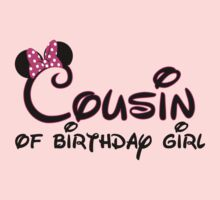 Cousin of birthday girl with Minnie Mouse ears by sweetsisters