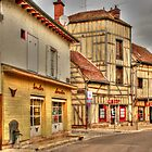 Street in Troyes France by MaluC
