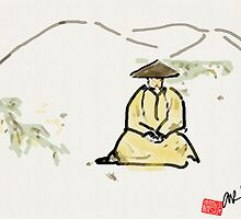Monk in Zazen by Alex Rodriguez